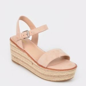 Sandale ALDO nude, Erani, din piele naturala