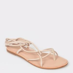 Sandale ALDO nude, Wigoclya, din piele naturala