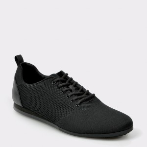 Pantofi ALDO negri, Cadiedda, din material textil