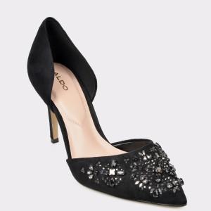 Pantofi ALDO negri, Thoresien, din piele ecologica