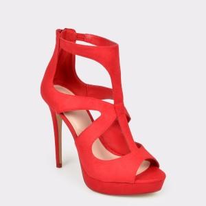 Sandale ALDO rosii, Elilyan, din material textil