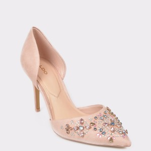 Pantofi ALDO roz, Thoresien, din piele intoarsa