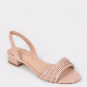 Sandale ALDO roz, Sevearia, din material textil