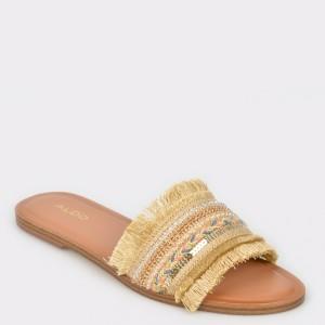 Papuci ALDO aurii, Castlerock, din material textil