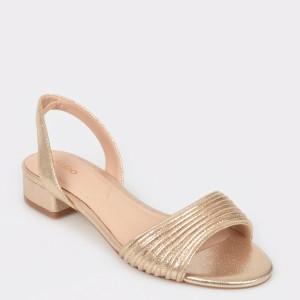 Sandale ALDO aurii, Sevearia, din material textil