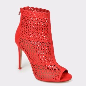Sandale ALDO rosii, Kuniel, din material textil