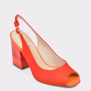 Sandale EPICA rosii, 8270455, din nabuc