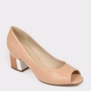Pantofi EPICA bej, 5564207, din piele naturala