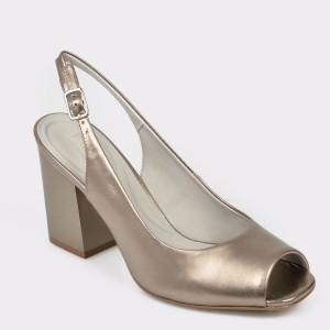 Sandale EPICA aurii, 8270455, din piele naturala