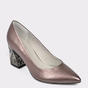 Pantofi EPICA gri, 7316370, din piele naturala