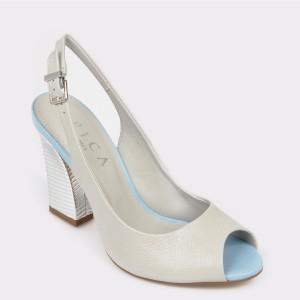 Sandale EPICA albe, 6410271, din piele naturala