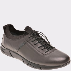 Pantofi Otter Negri, 8902234, Din Piele Naturala