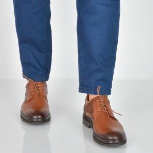 Pantofi Otter Maro, Tp292, Din Piele Naturala