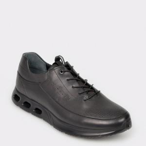 Pantofi OTTER negri, 9262228, din piele naturala
