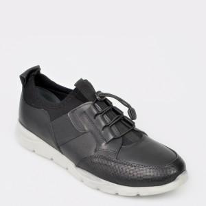 Pantofi sport OTTER negri, 926354, din piele naturala