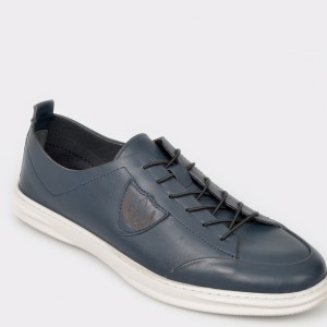 Pantofi OTTER bleumarin, 199301, din piele naturala