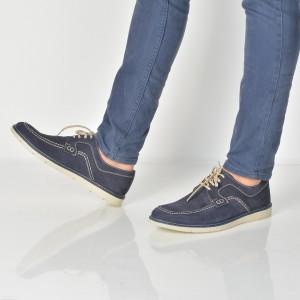 Pantofi Otter Bleumarin, 5912, Din Nabuc