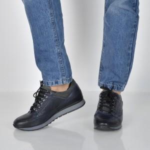 Pantofi Otter Bleumarin, 5197, Din Piele Naturala