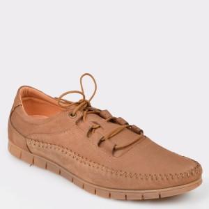 Pantofi OTTER maro, 3201, din nabuc