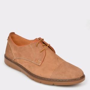 Pantofi OTTER maro, 59251, din nabuc