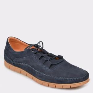 Pantofi OTTER bleumarin, 3201, din nabuc