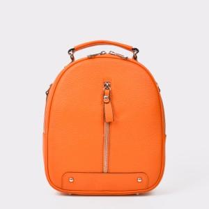 Rucsac FLAVIA PASSINI portocaliu, , din piele naturala