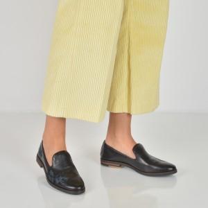 Pantofi IMAGE negri, 24835, din piele naturala