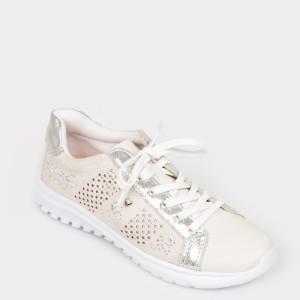 Pantofi sport FLAVIA PASSINI albi, 294301, din piele naturala