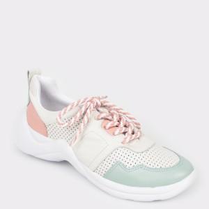 Pantofi sport FLAVIA PASSINI albi, 6012001, din piele naturala