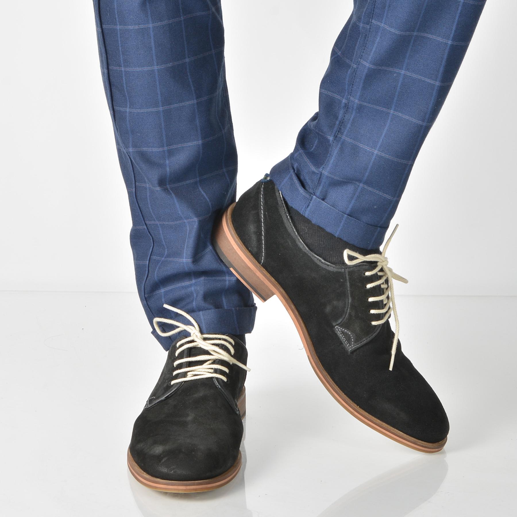Pantofi Otter Negri, 4132, Din Piele Intoarsa