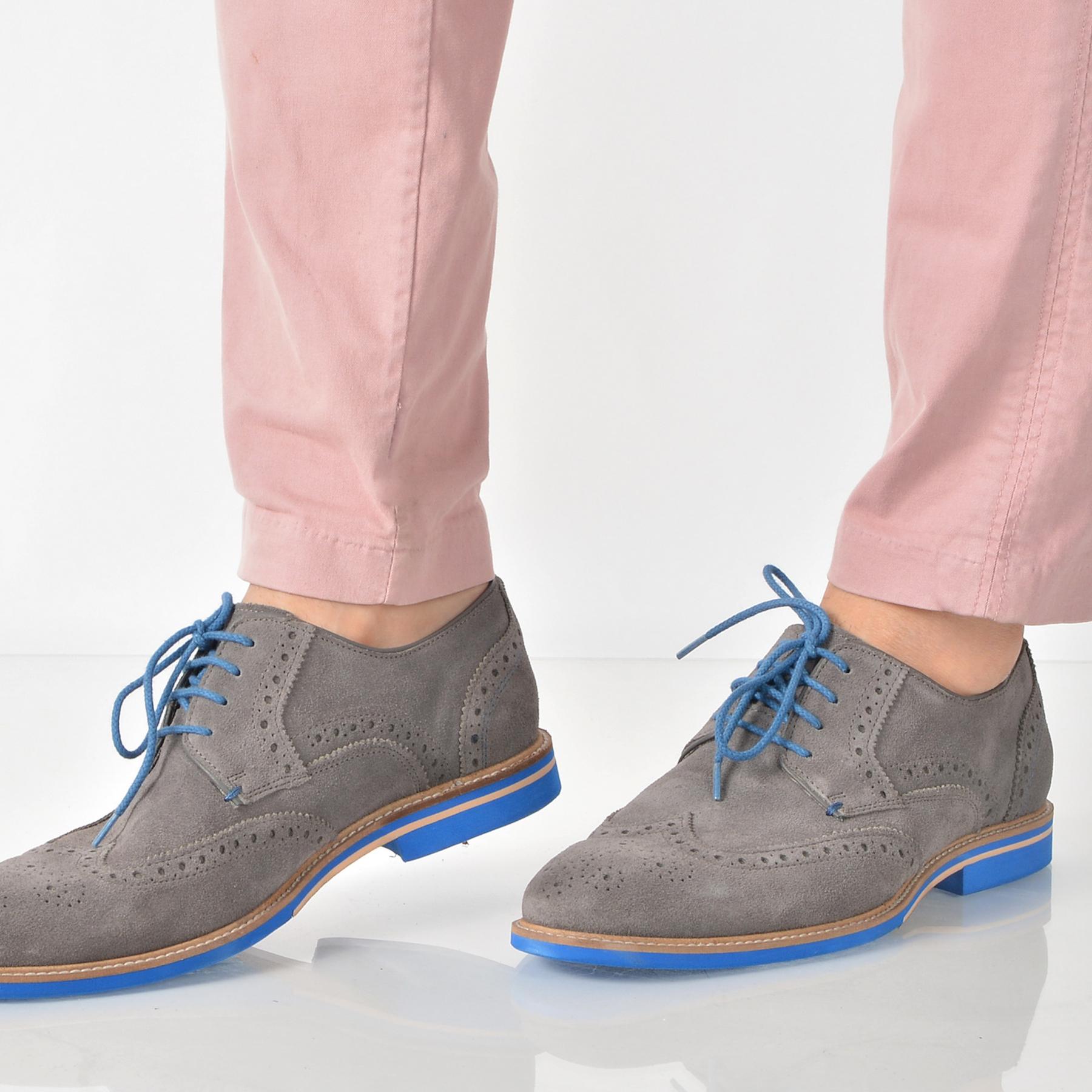 Pantofi Otter Gri, 3990, Din Piele Intoarsa