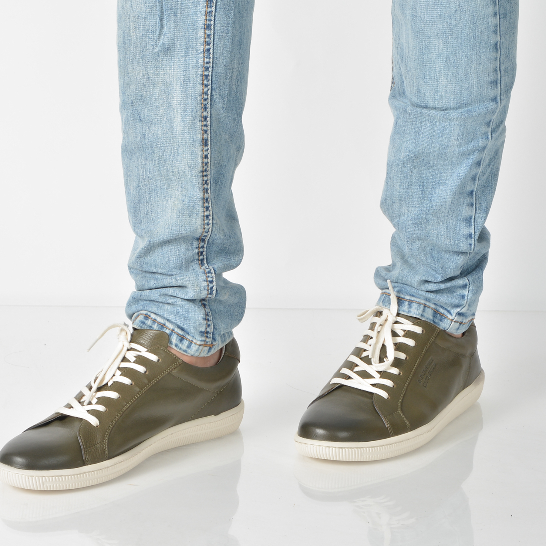 Pantofi Otter Kaki, 4240, Din Piele Naturala