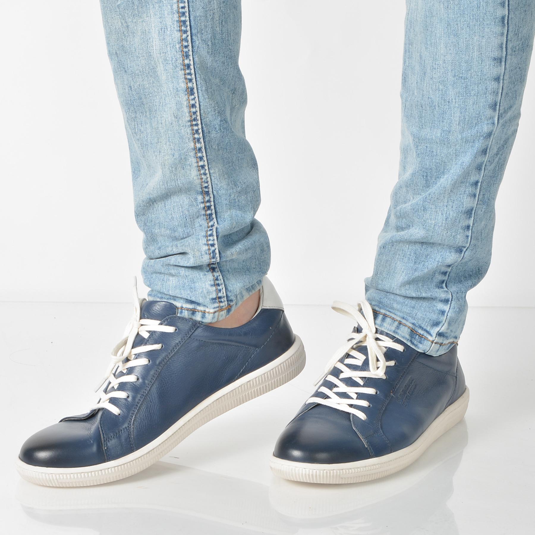 Pantofi Otter Bleumarin, 4240, Din Piele Naturala