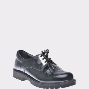 Pantofi Pentru Copii Selections Kids Negri, F2357, Din Piele Naturala