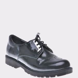 Pantofi pentru copii SELECTIONS KIDS negri, G2357, din piele naturala
