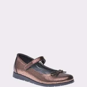 Pantofi Pentru Copii Selections Kids Maro, F2845, Din Piele Naturala