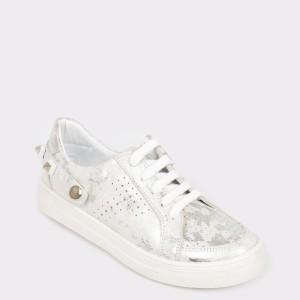 Pantofi pentru copii SELECTIONS KIDS argintii, 3085, din piele naturala