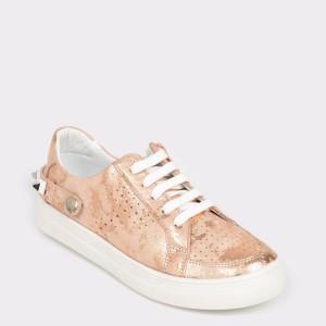 Pantofi pentru copii SELECTIONS KIDS nude, 3085, din piele naturala