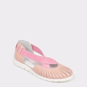 Pantofi pentru copii SELECTIONS KIDS nude, Camp1, din piele naturala