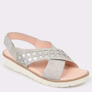 Sandale IMAGE gri, 670D2, din piele ecologica