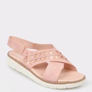 Sandale IMAGE nude, 670D2, din piele ecologica