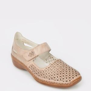 Pantofi RIEKER bej, 413G8, din piele naturala