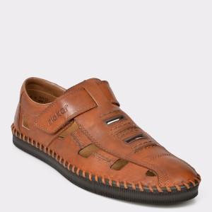 Pantofi RIEKER maro, B2983, din piele naturala