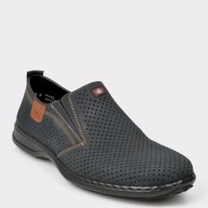 Pantofi RIEKER bleumarin, 1, din piele naturala