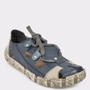 Pantofi RIEKER bleumarin, L0325, din piele naturala