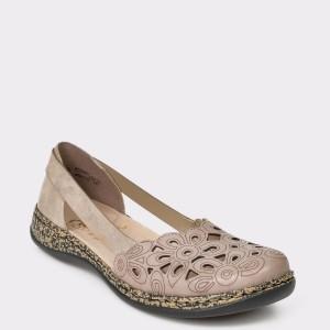 Pantofi RIEKER gri, 46395, din piele ecologica