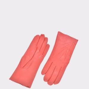 Manusi rosii, D319, din piele naturala