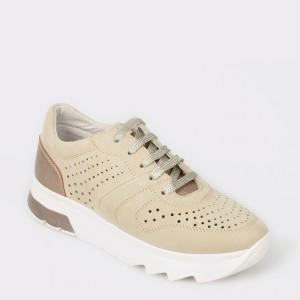 Pantofi sport STONEFLY bej, Spock10, din nabuc