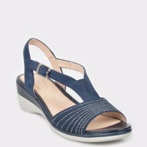 Sandale STONEFLY bleumarin, Vanii17, din piele intoarsa