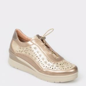 Pantofi STONEFLY bej, Cream15, din piele naturala
